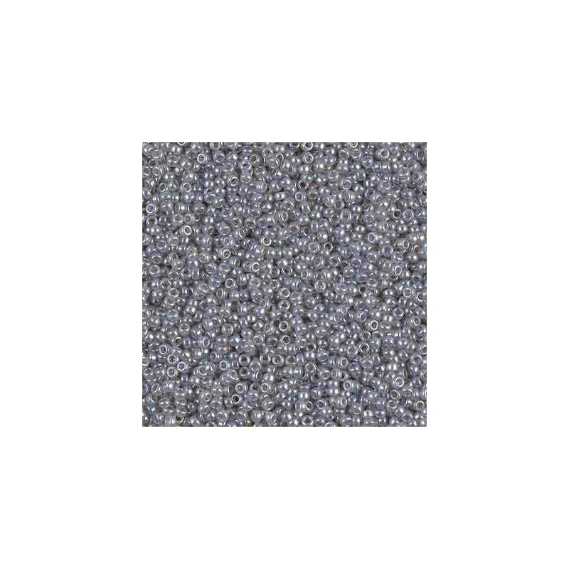 RR-15-526 Silver Gray Ceylon Miyuki Round Seed Beads 15/0