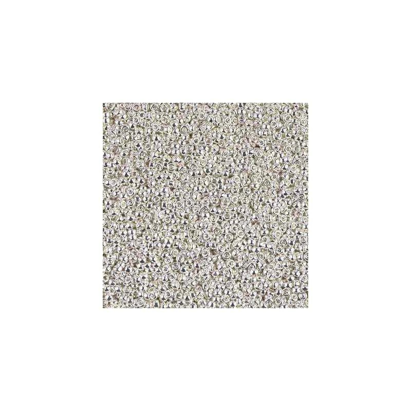 RR-15-961 Bright Sterling Plated Miyuki Ümmargused Seemnehelmed 15/0