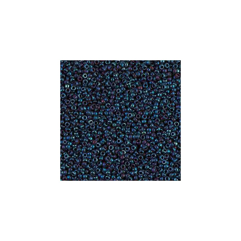 RR-15-1959 Metallic Blue Iris Miyuki Round Seed Beads 15/0