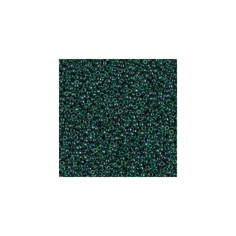 RR-15-2241 Lined Emerald Luster Miyuki Round Seed Beads 15/0