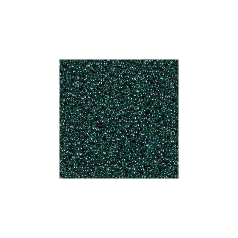 RR-15-2241 Lined Emerald Luster Miyuki Ümmargused Seemnehelmed 15/0
