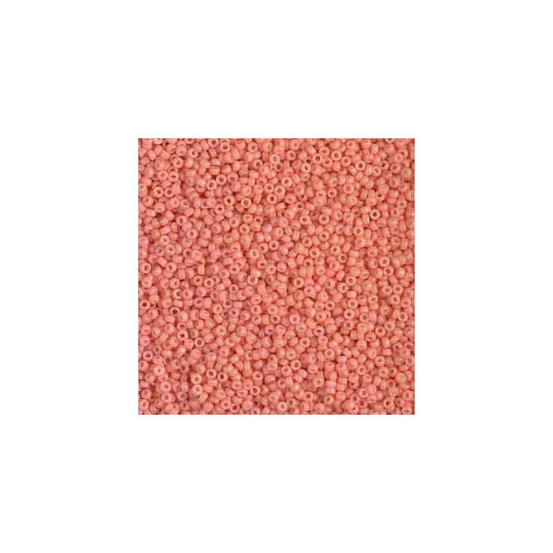 RR-15-4462 Duracoat Opaque Dark Salmon Miyuki Round Seed Beads 15/0