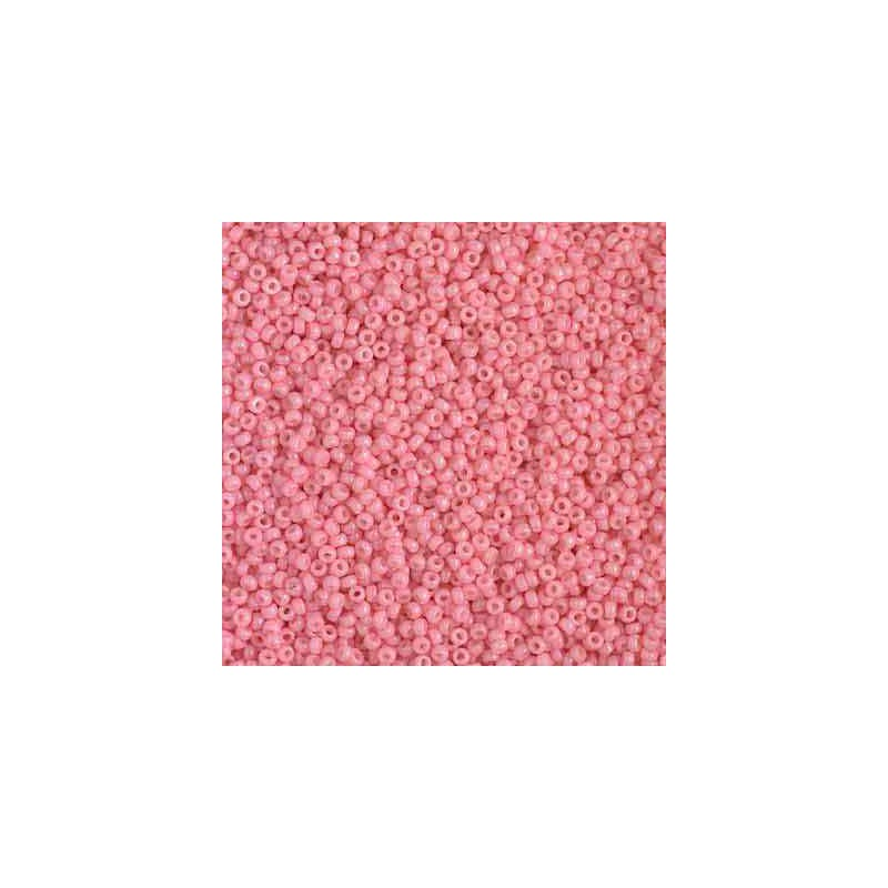 RR-15-4463 Duracoat Opaque Pink Miyuki Round Seed Beads 15/0