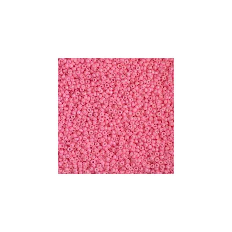 RR-15-4467 Duracoat Opaque Carnation Miyuki Round Seed Beads 15/0