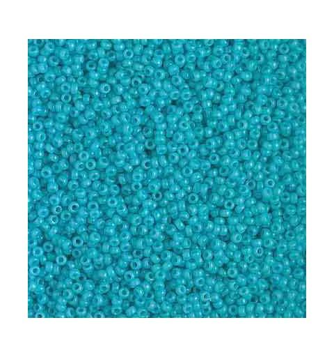 RR-15-4480 Duracoat Opaque Ocean Blue Miyuki Round Seed Beads 15/0