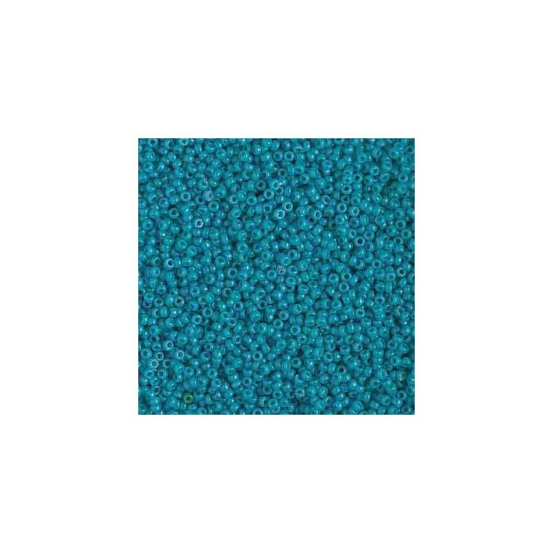 RR-15-4483 Duracoat Opaque Azure Miyuki Round Seed Beads 15/0