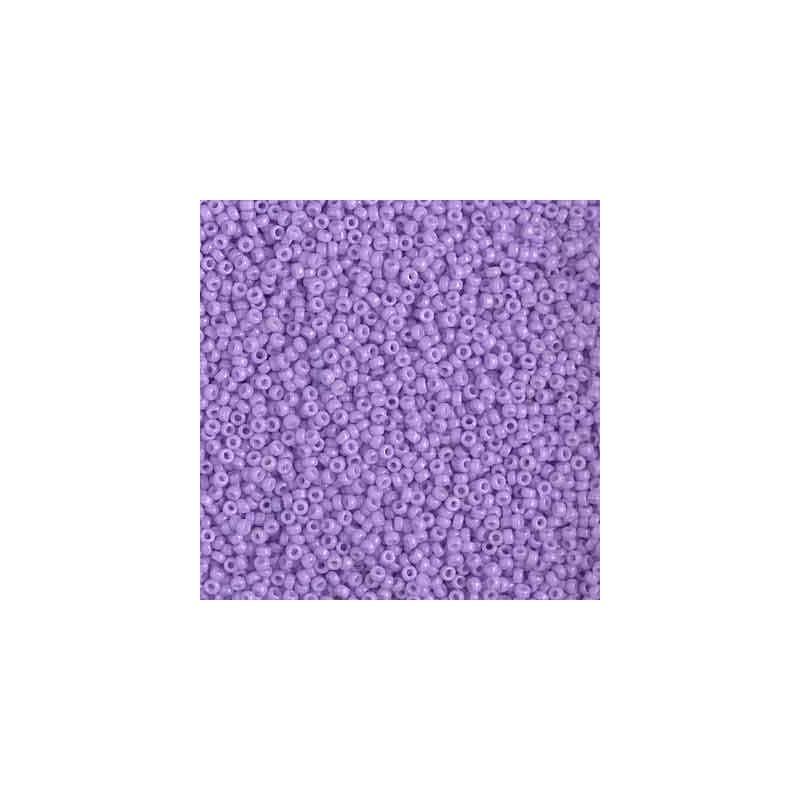 RR-15-4488 Duracoat Opaque Pale Purple Miyuki Round Seed Beads 15/0