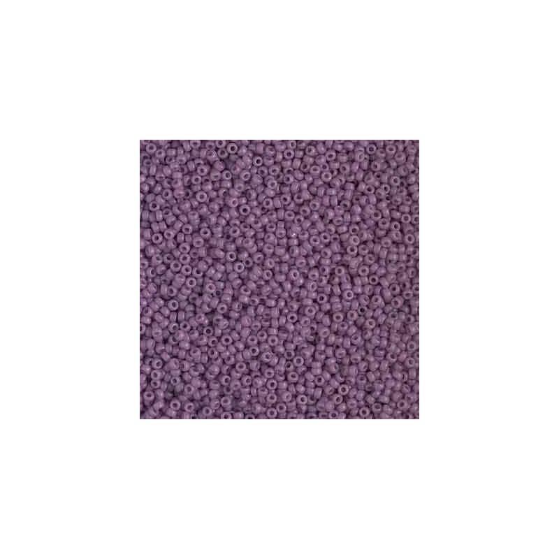 RR-15-4489 Duracoat Opaque Purple Miyuki Round Seed Beads 15/0