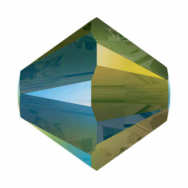 3MM Iridescent Green 5328 XILION Bi-Cone Beads SWAROVSKI