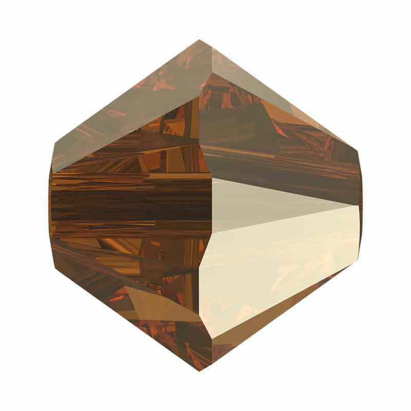 4MM Bronze Shade 2x 5328 XILION Bi-Cone Beads SWAROVSKI