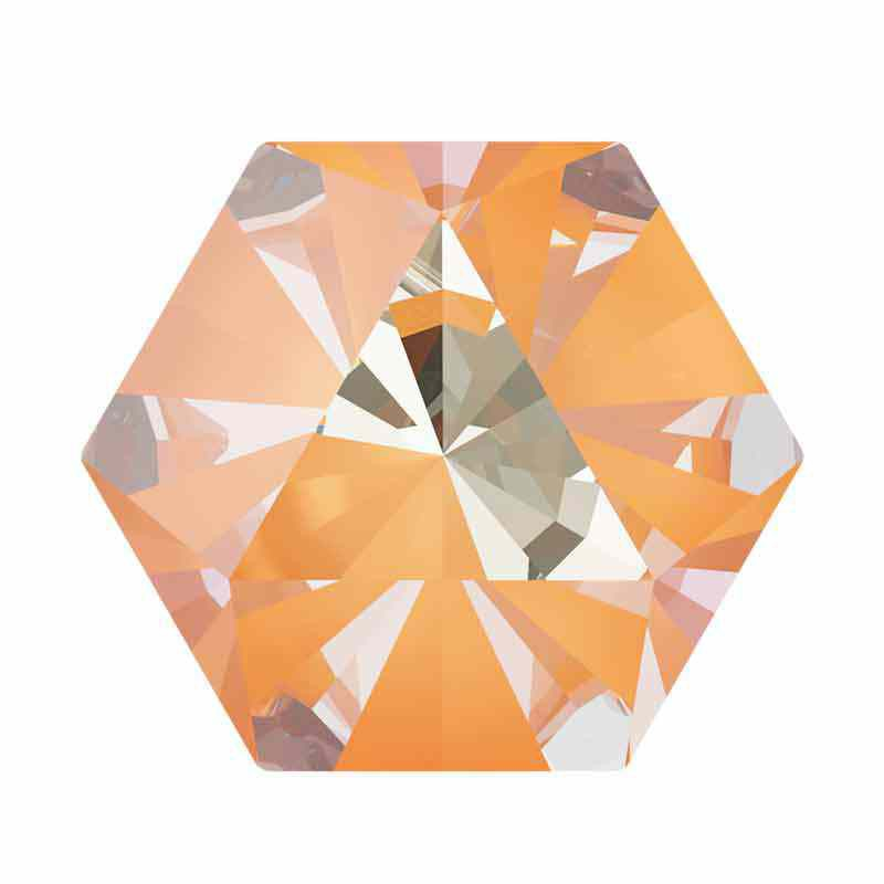 14x16mm Peach DeLite Kaleidoscope Hexagon 4699 Swarovski