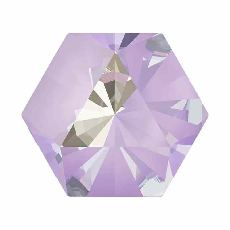 9.4x10.8mm Lavender DeLite Kaleidoscope Hexagon 4699 Swarovski