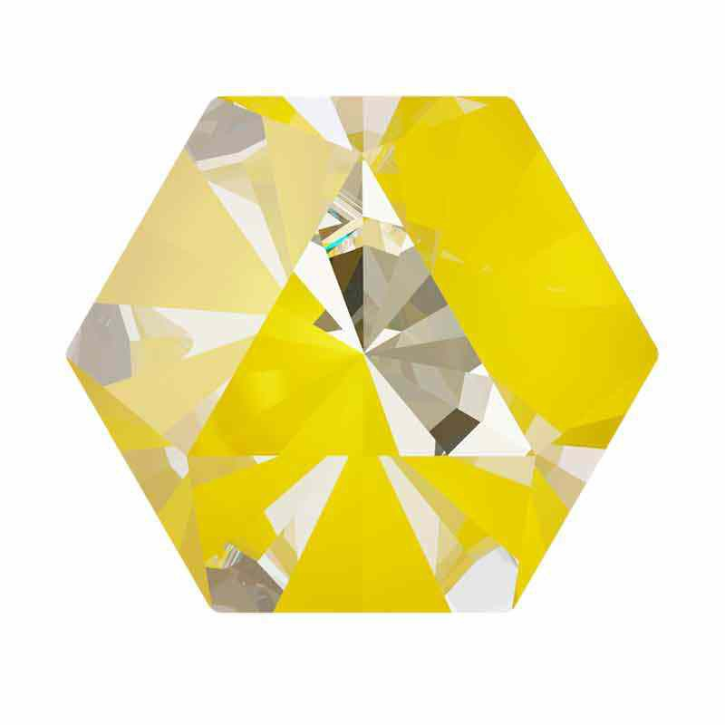 9.4x10.8mm Sunshine DeLite Kaleidoscope Hexagon 4699 Swarovski