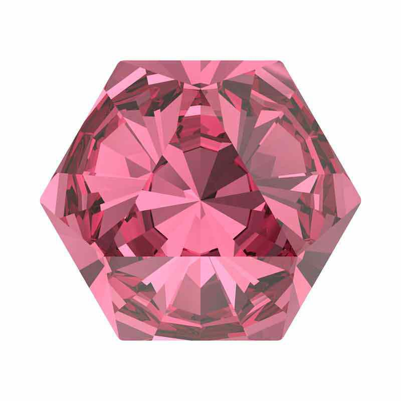 9.4x10.8mm Rose F Kaleidoscope Hexagon 4699 Swarovski