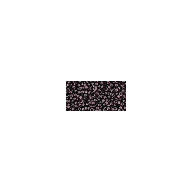 TR-11-6C TRANSPARENT AMETHYST SEED BEADS