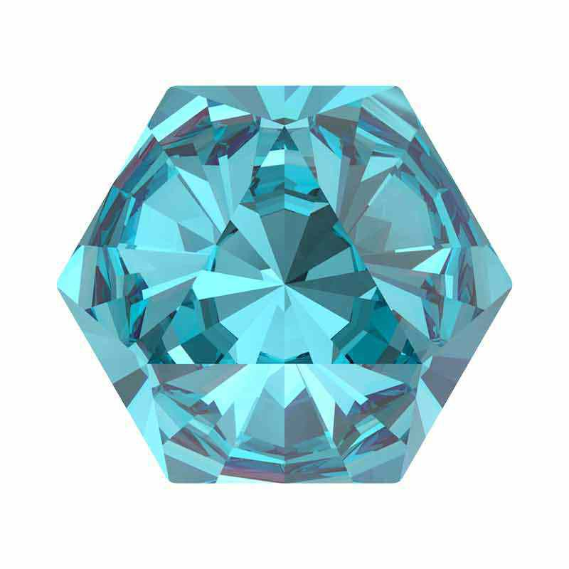 14x16mm Aquamarine F Kaleidoscope Hexagon 4699 Swarovski