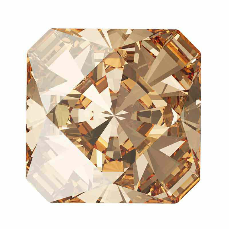 10mm Golden Shadow F Kaleidoscope Square 4499 Swarovski