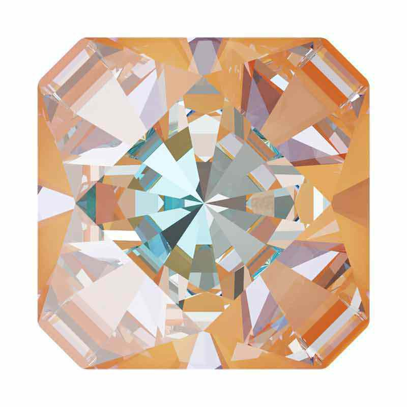 10mm Peach DeLite Kaleidoscope Square 4499 Swarovski