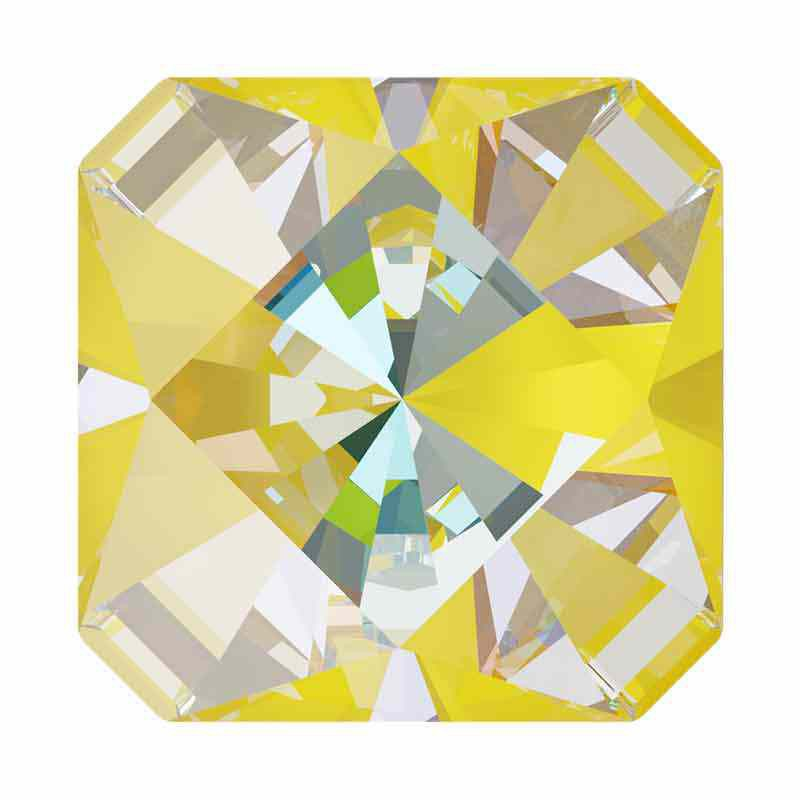10mm Sunshine DeLite Kaleidoscope Square 4499 Swarovski