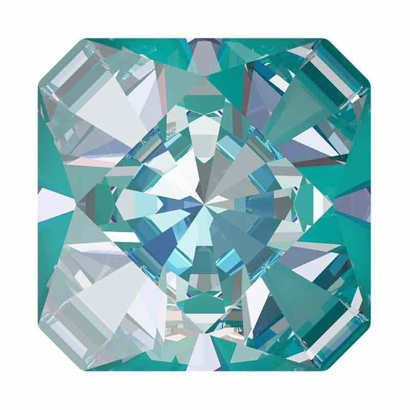 cac61fe592b 14mm Crystal Laguna DeLite Kaleidoscope Square 4499 Swarovski