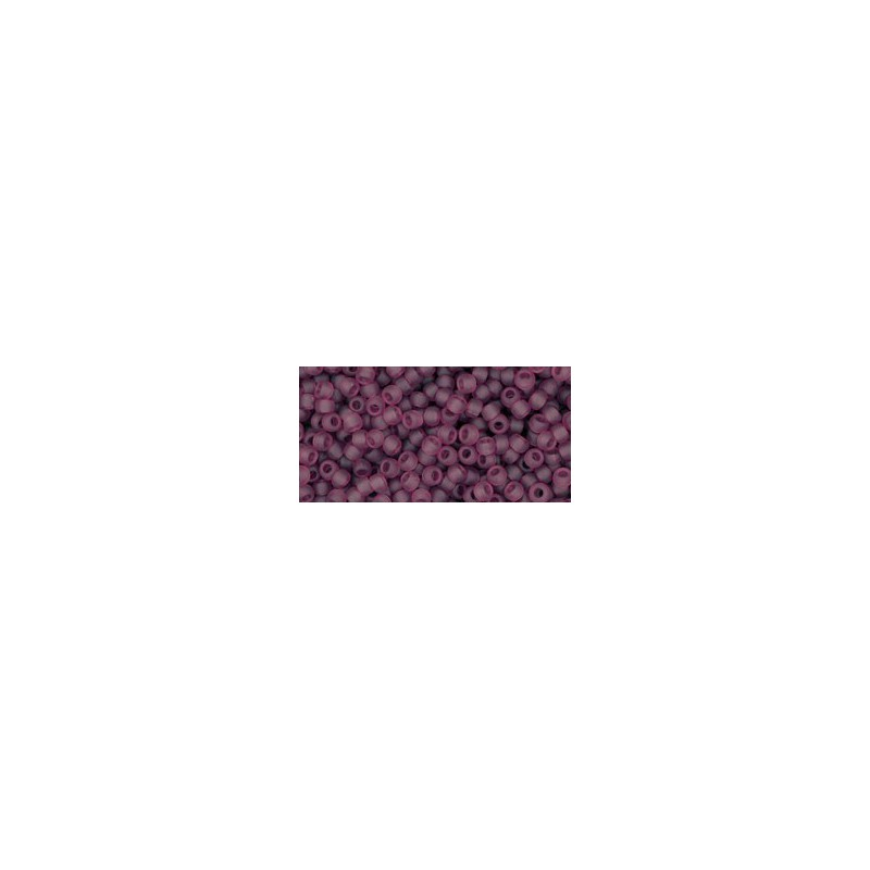 TR-11-6BF TRANSPARENT-FROSTED MED AMETHYST TOHO SEED BEADS