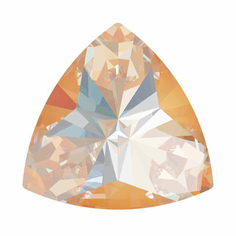 9.2x9.4mm Peach DeLite Kaleidoscope Triangle 4799 Swarovski