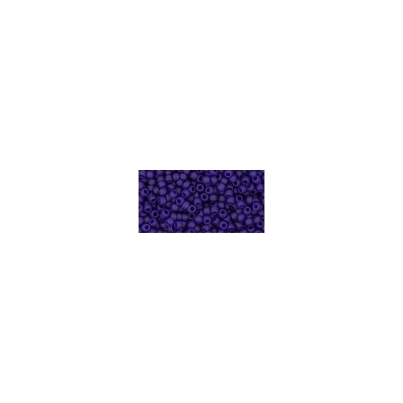 TR-11-8DF TRANSPARENT-FROSTED COBALT TOHO SEED BEADS
