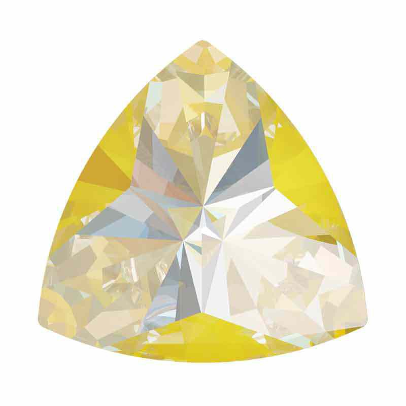 14x14.3mm Sunshine DeLite Kaleidoscope Triangle 4799 Swarovski