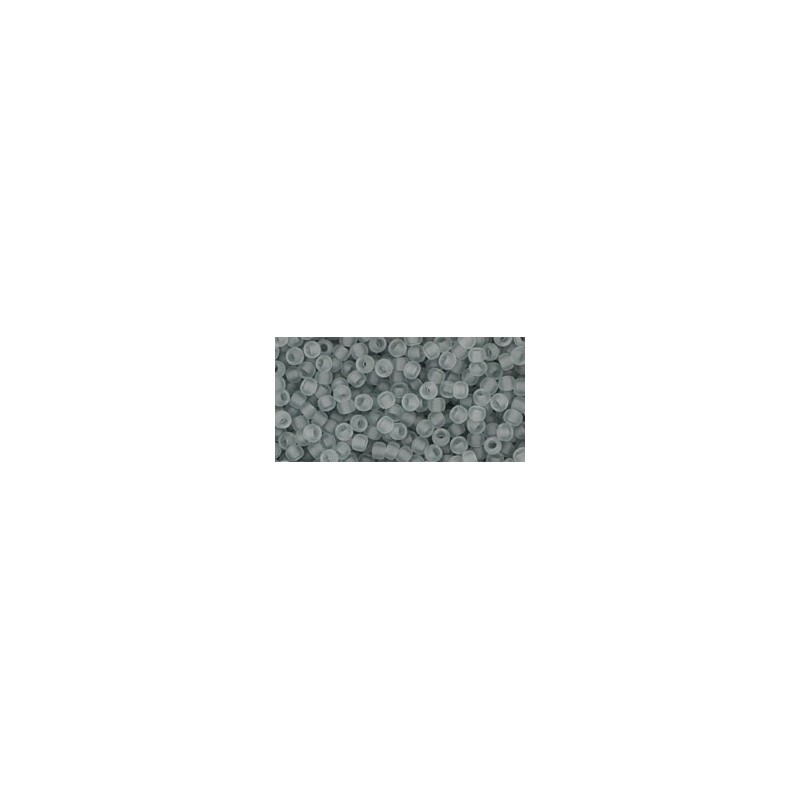 TR-11-9F TRANSPARENT-FROSTED LT. GRAY SEED BEADS