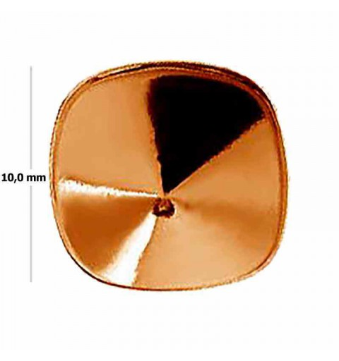 Cushion Square 4470 10mm Swarovski Silver Rose Gold Plated setting