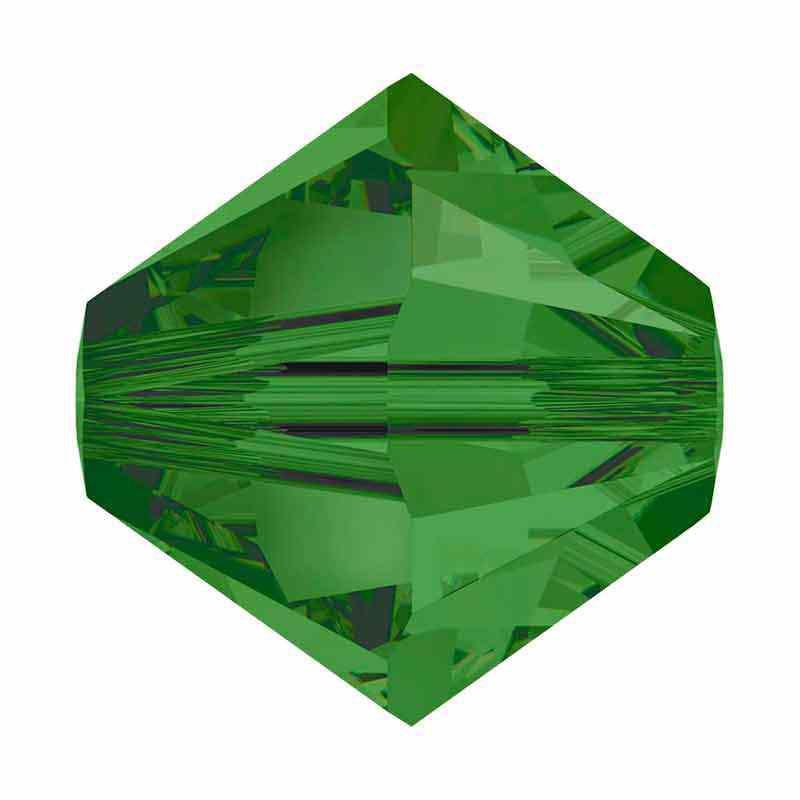 4MM Fern Green 5328 XILION Perles de bicone SWAROVSKI