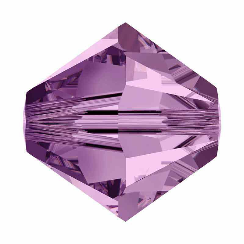 3MM Light Amethyst 5328 XILION Bi-Cone Beads SWAROVSKI