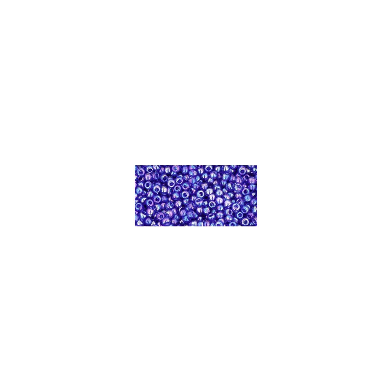 TR-11-87 TRANSPARENT-RAINBOW COBALT SEED BEADS