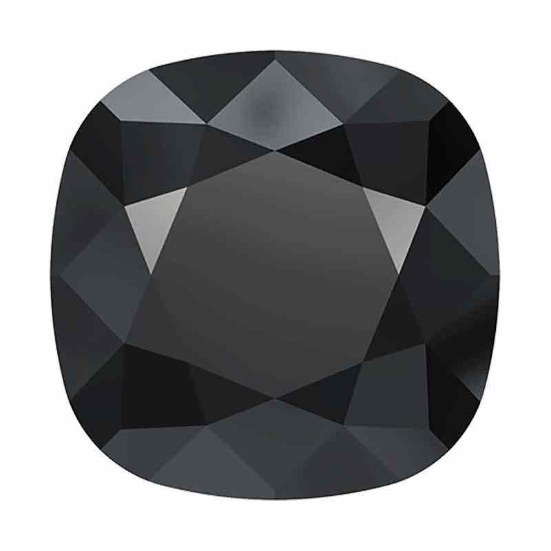 12mm Jet Hematite Unfoiled Cushion Square Fancy Stone 4470 Swarovski