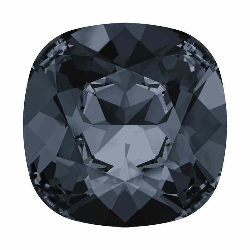 12mm Silver Night F Cushion Square Fancy Stone 4470 Swarovski
