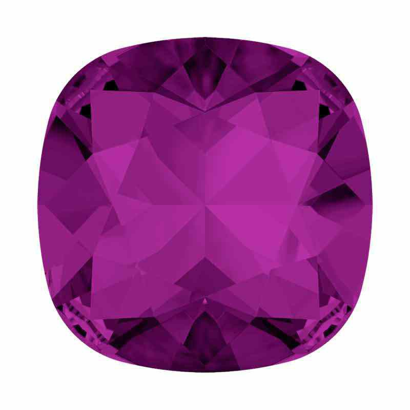 12mm Amethyst F Cushion Square Fancy Stone 4470 Swarovski