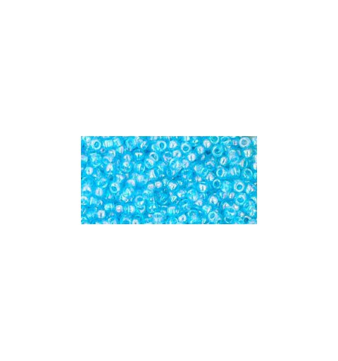 TR-11-163 TRANSPARENT-RAINBOW AQUAMARINE SEED BEADS