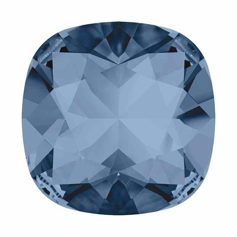 12mm Denim Blue F Cushion Square Fancy Stone 4470 Swarovski