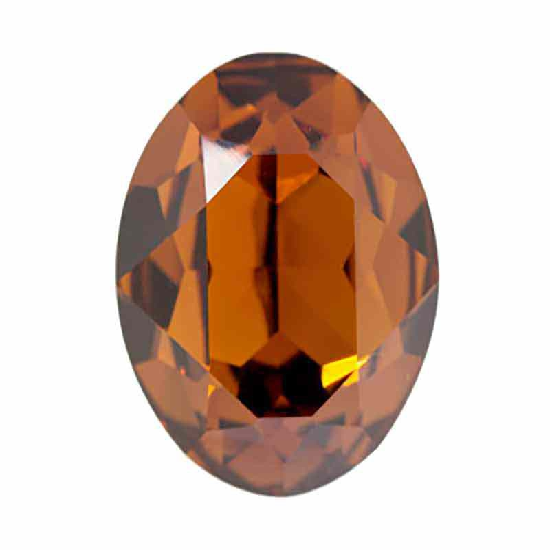 25x18mm Smoked Topaz F (220) Oval Fancy Stone 4120 Swarovski Elements