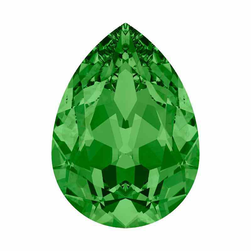 14x10mm Fern Green F Pear-Shaped Fancy Stone 4320 Swarovski Crystal
