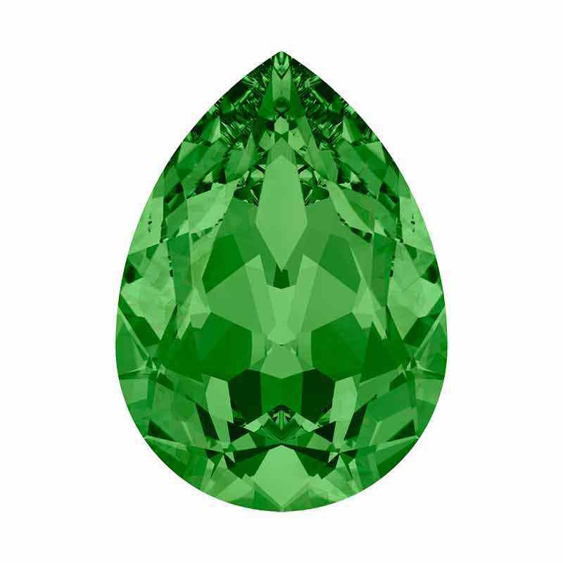 14x10mm Fern Green F Poire Fancy Cristal 4320 de Swarovski Cristal