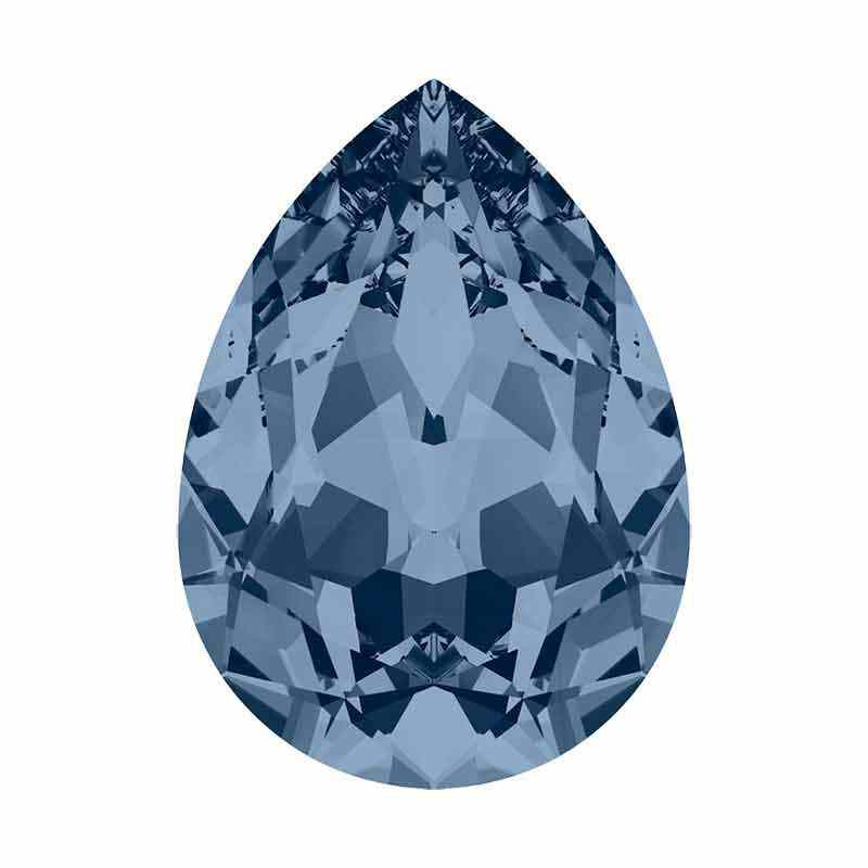 14x10mm Denim Blue F Pear-Shaped Fancy Stone 4320 Swarovski Crystal