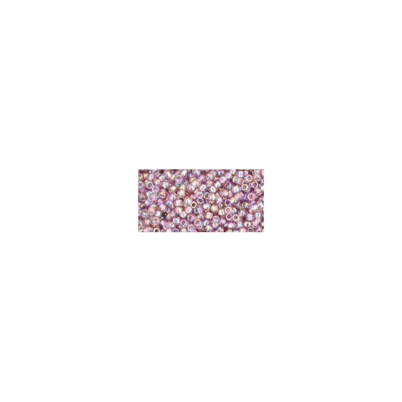 TR-11-166 TRANSPARENT-RAINBOW LT. AMETHYST SEED BEADS