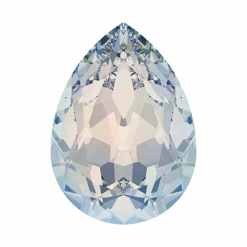 10x7mm White Opal F Pear-Shaped Fancy Stone 4320 Swarovski Crystal