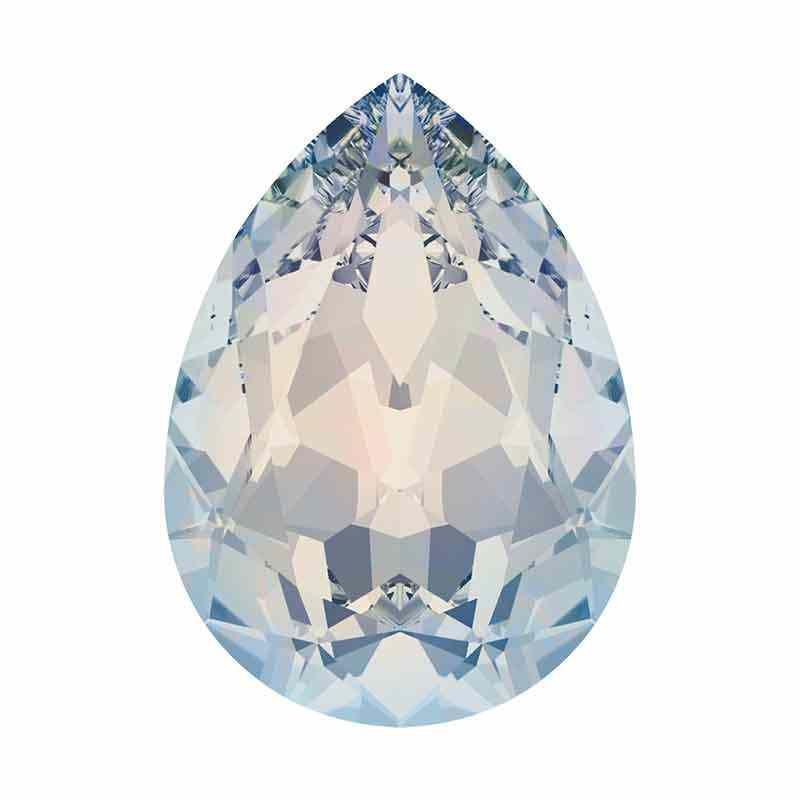 10x7mm White Opal F Pirnikujuline Ehete Kristall 4320 Swarovski