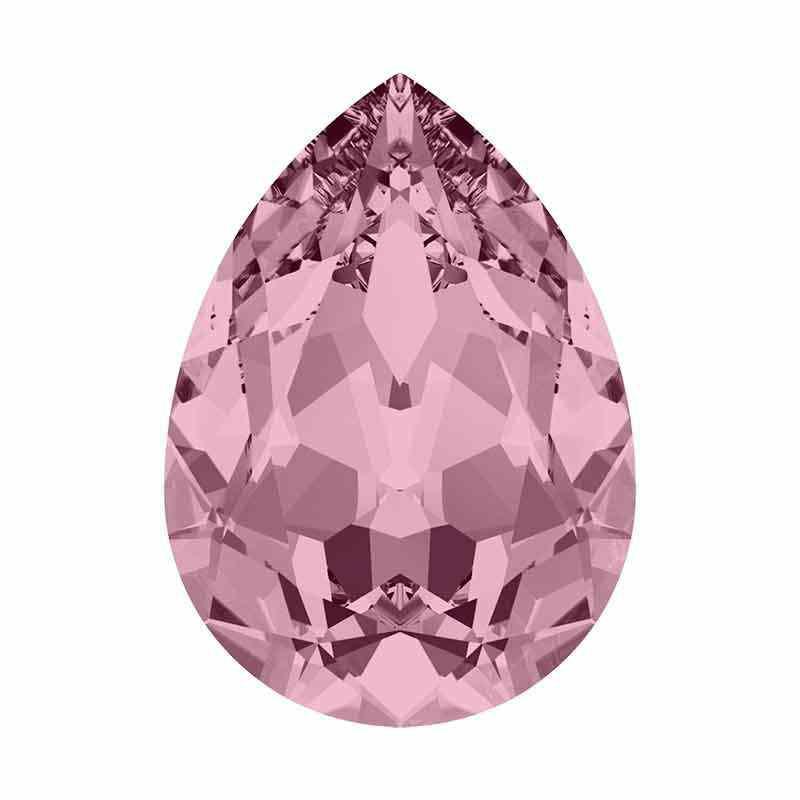 10x7mm Antique Pink Poire Fancy Cristal 4320 de Swarovski Cristal