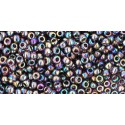 TR-11-166C TRANSPARENT-RAINBOW AMETHYST SEED BEADS