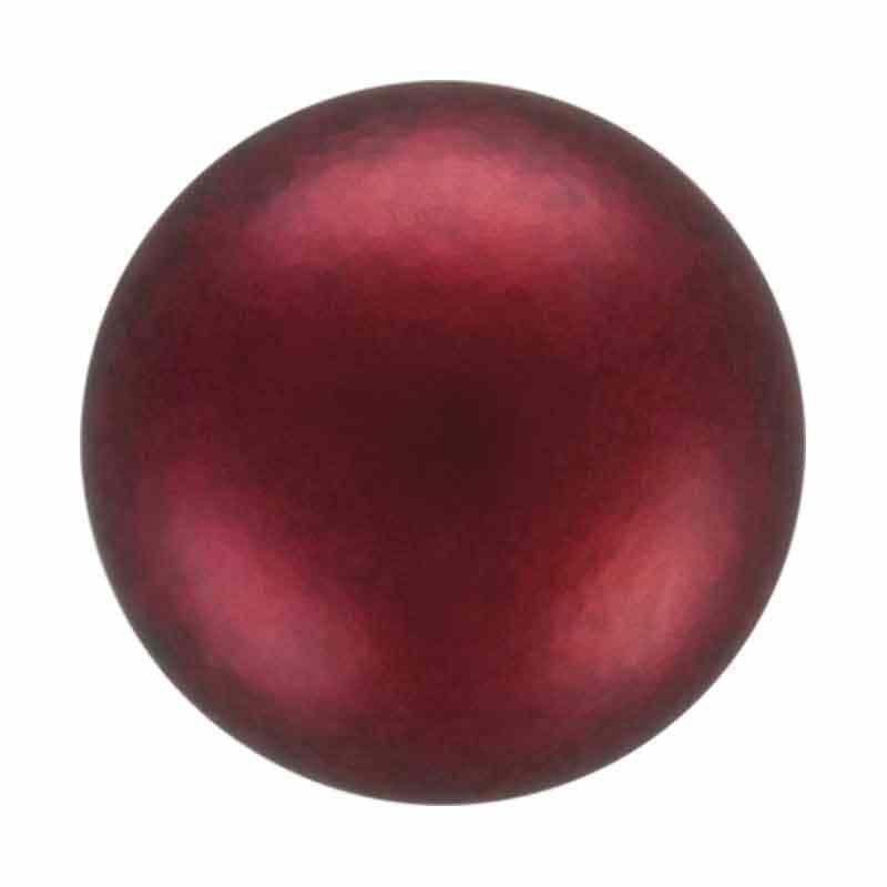 4MM Bordeaux Nacre Pearl pyöreä MXM Preciosa