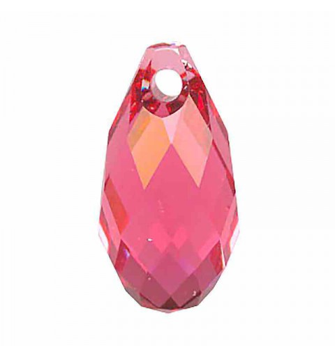13x6.5MM Indian Pink Briolette Pendant 6010 SWAROVSKI