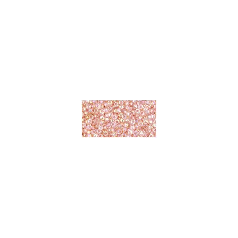 TR-11-169 TRANSPARENT-RAINBOW ROSALINE SEED BEADS